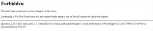Mensaje de bloqueo de un directorio